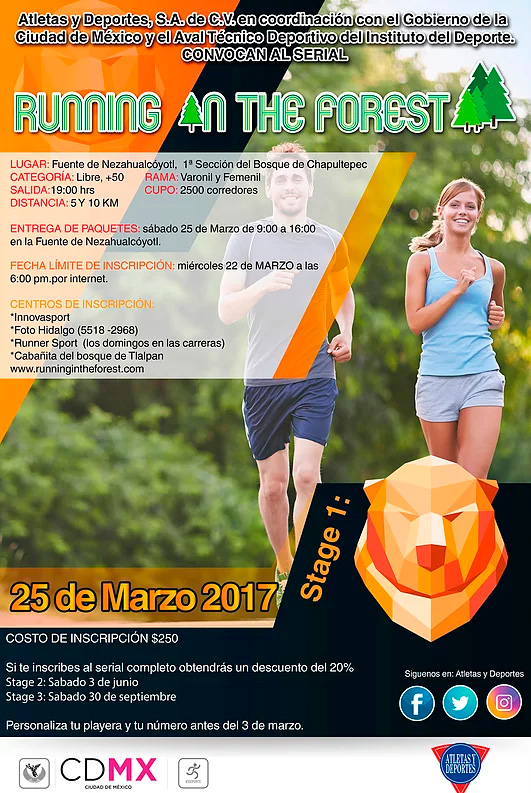 Carrera Running In The Forest Stage 1 Convocatoria