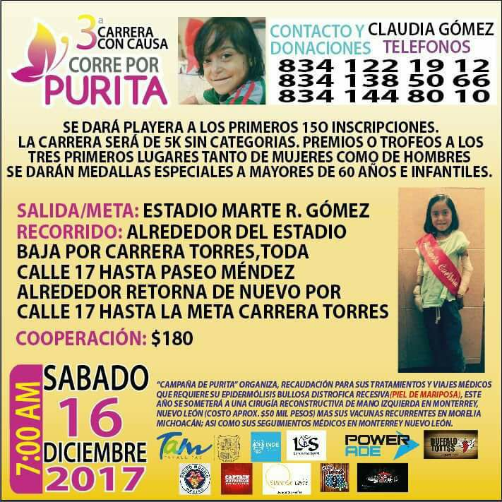 3ª Carrera Con Causa Corre Por Purita 2018 Convocatoria